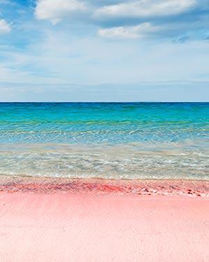 Stranden Sardinië: roze