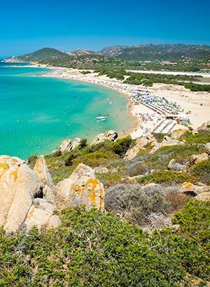 Stranden Sardinië: zuiden