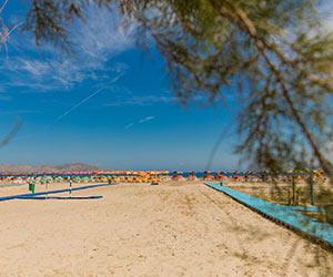 Badplaats Tigaki (Kos): strand