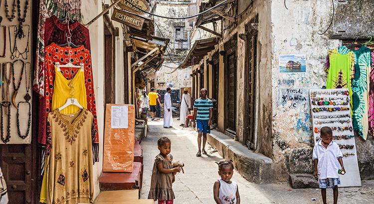 Doen in Stonetown, Zanzibar