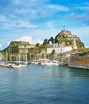 Bezienswaardigheden Corfu-Stad: kastelen