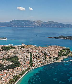 Bezienswaardigheden Corfu-Stad notendop