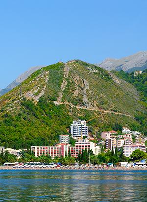 Badplaatsen Montenegro: Becici
