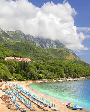 Badplaatsen Montenegro: Rafailovici