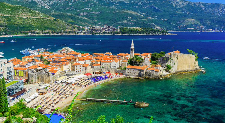 Badplaatsen Montenegro