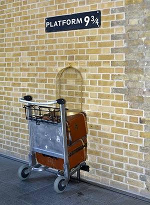 Harry Potter in Londen: Platform 9 3/4