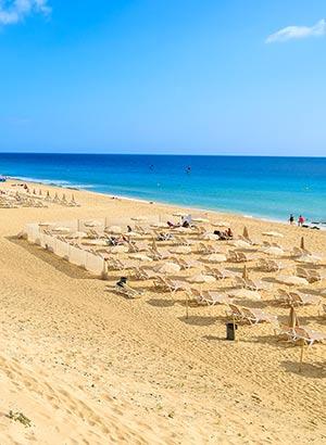 Strand van Morro Jable op Fuerteventura