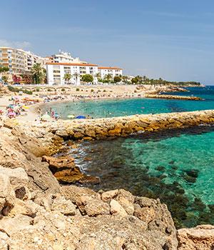 Stranden Costa Dorada, l'Ametlla de Mar