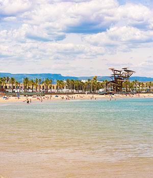 Stranden Costa Dorada, Platja de la Pineda