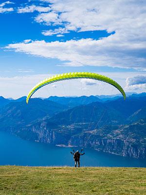Actieve vakantie Gardameer, paragliden