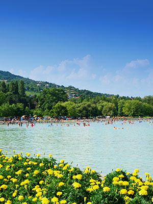 Vakantie Balatonmeer, strand