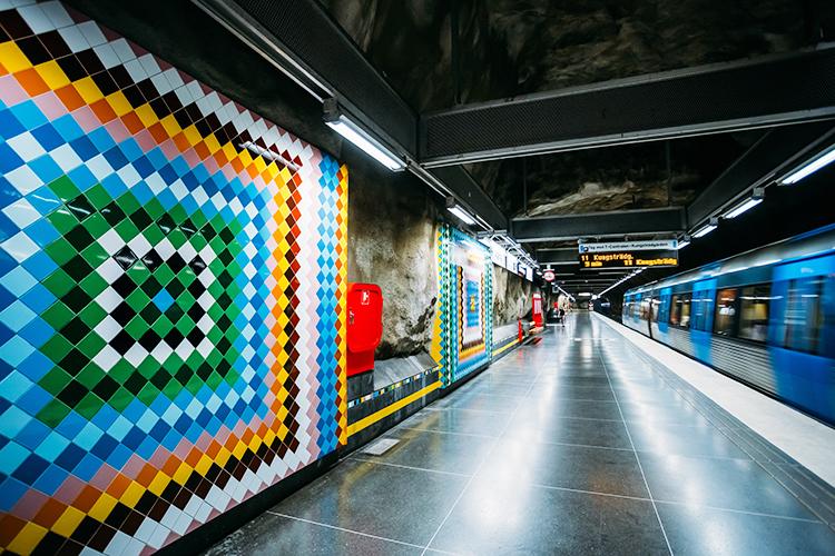 Metronetwerk Stockholm, bezaaid met kunswerken
