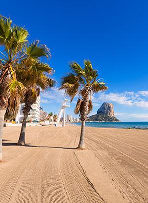 Mooiste stranden Costa Blanca: Calpe