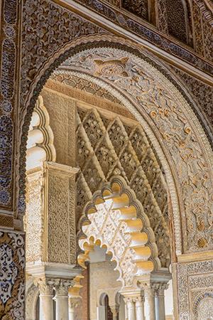 Real Alcázar Sevilla; koninklijk Paleis