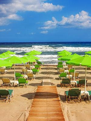 Rethymon cultureel hart Kreta, strand