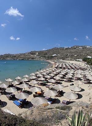Mooiste stranden Mykonos: Super Paradise Beach