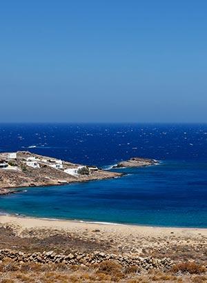 Stranden Mykonos; zuiden
