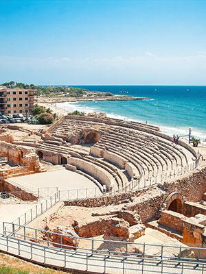 Tarragona hippe stad vol geschiedenis, amfitheater