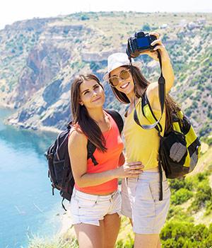 Veilig selfies vakantie maken