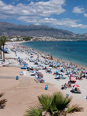 Vakantie vieren in Albir, strand