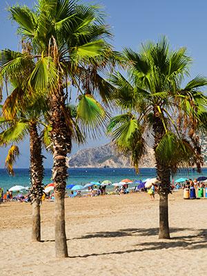 Calpe, Costa Blanca: strand