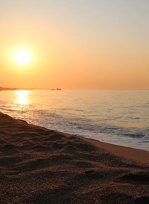 Stranden Costa Barcelona, Malgrat de Mar