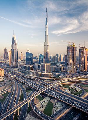 Dubai vanuit de lucht: Burj Khalifa