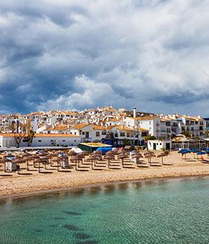 Puerto Banús haven van Marbella, strand