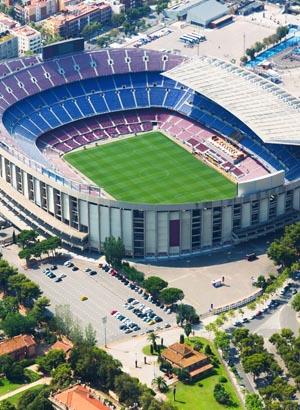 Barcelona met kinderen; Stadion FC Barcelona