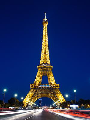 Eiffeltoren Parijs, avond