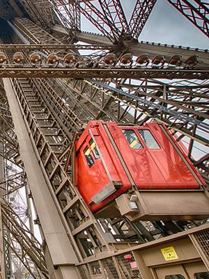 Eiffeltoren Parijs, lift