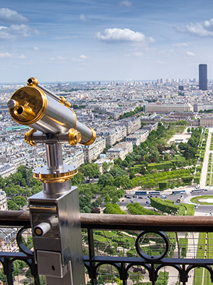 Eiffeltoren Parijs, uitzicht