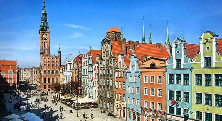 Gdansk kleurrijke Poolse stad