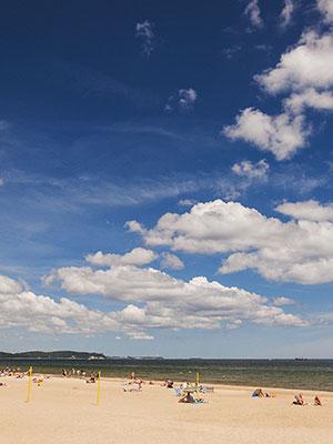 Gdansk kleurrijke Poolse stad, strand