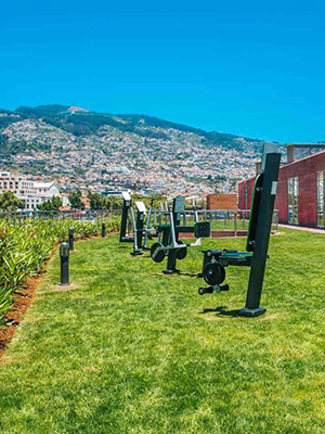 Pestana CR7 Funchal, Christiano Ronaldo hotel: outdoor gym