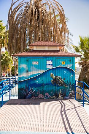 Street art Malaga: strand