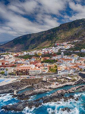 Garachico authentiek dorpje Tenerife, natuurlijk zwembad