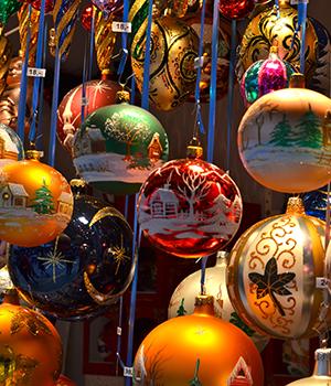 Onbekendere Duitse kerstmarkten, kerstballen