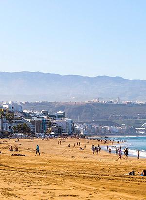 Mooiste stranden Gran Canaria: Playa de Las Canteras