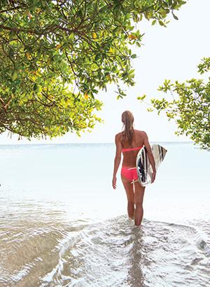 Romantisch Aruba: peddelsurfen