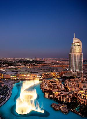 Winkelen Dubai Mall: Dubai Fountain