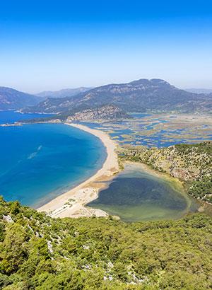 Badplaatsen Lycische kust: Dalyan