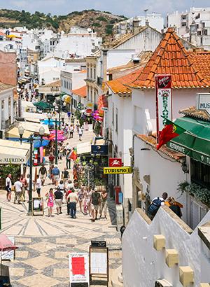 Oude centrum Albufeira: straat