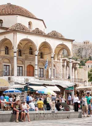 Doen in Athene, Markt