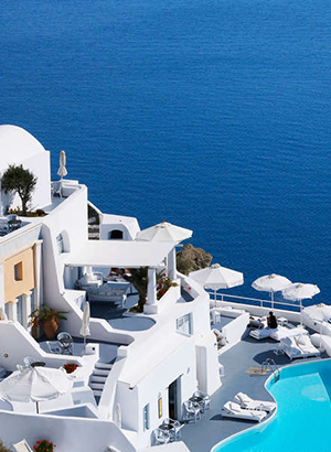 Mooie hotel Santorini: Oia