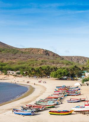 Zon in februari: Kaapverdië