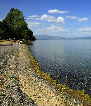 Zonvakantie Meer van Ohrid, stranden