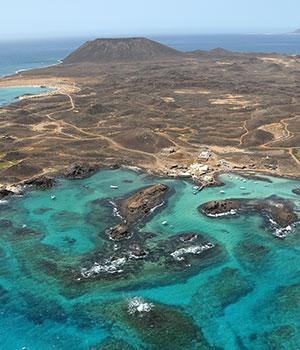 Vogelvlucht, Isla de Lobos dagtrip Fuerteventura