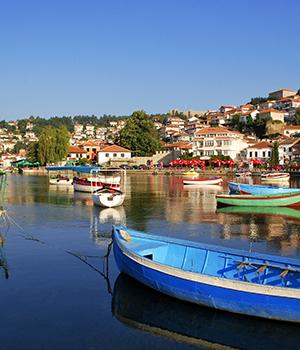 Zonvakantie Meer van Ohrid, vogelvlucht