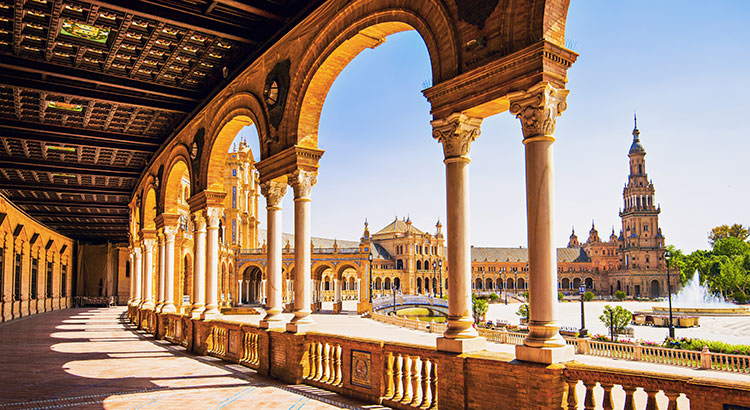 Voorjaar Spaanse steden